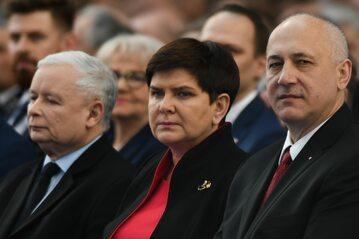 Jarosław Kaczyński, Beata Szydło i Joachim Brudziński