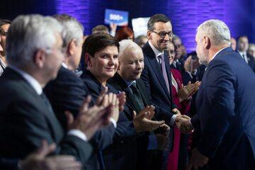 Jarosław Kaczyński, Beata Szydło i Mateusz Morawiecki