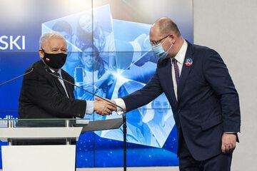 Jarosław Kaczyński i Adam Bielan