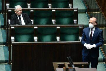 Jarosław Kaczyński i Borys Budka