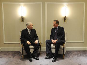 Jarosław Kaczyński i David Cameron