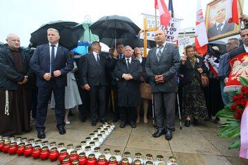 Jarosław Kaczyński na jednej z miesięcznic smoleńskich