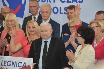 Jarosław Kaczyński na konwencji PiS w Legnicy