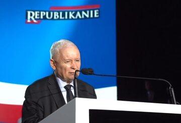 Jarosław Kaczyński na konwencji Republikanów