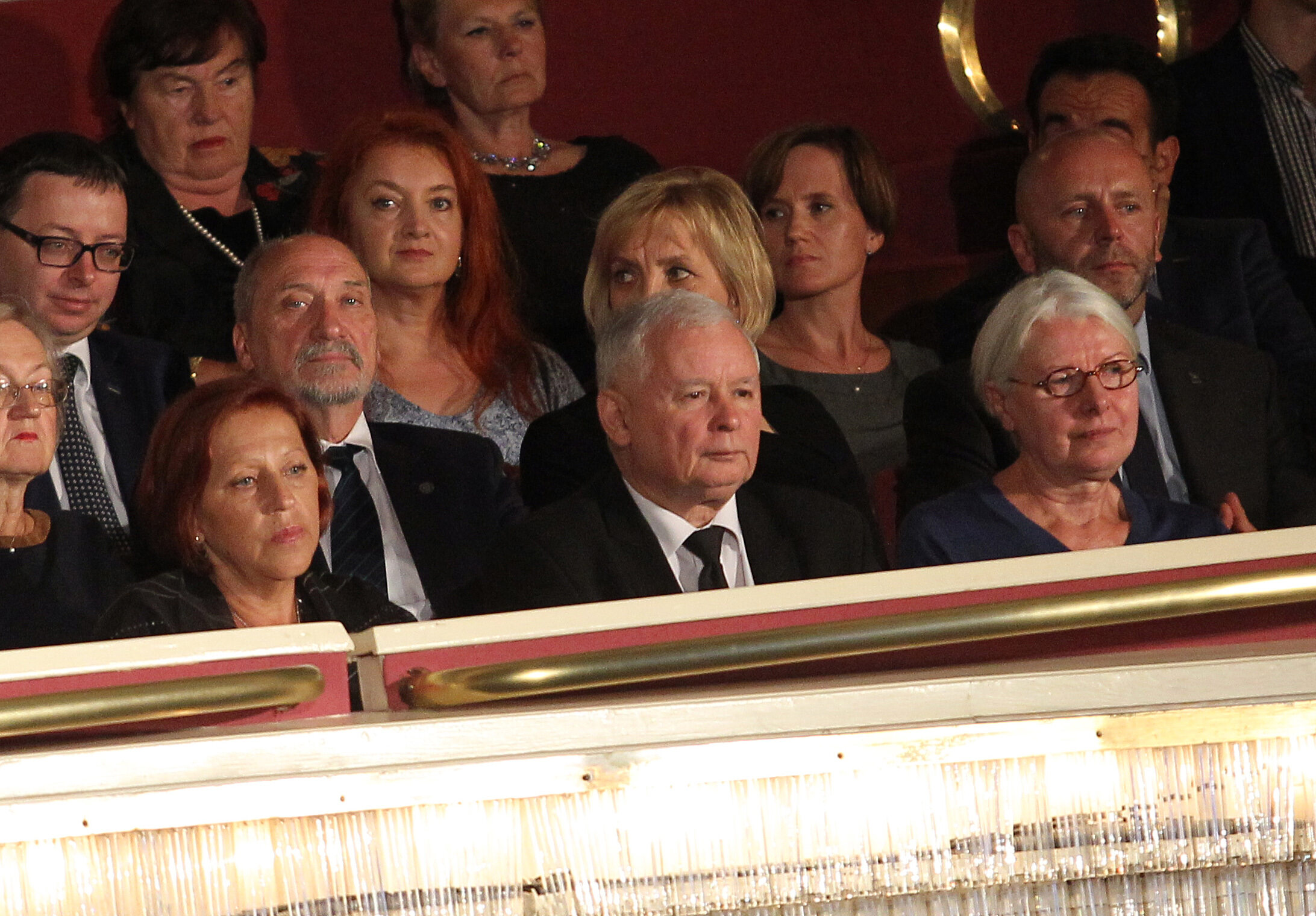 """Jarosław Kaczyński na premierze filmu """"Smoleńsk"""""""