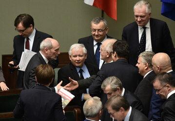 Jarosław Kaczyński podczas posiedzenia Sejmu
