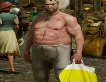 Jeden z memów z wiedźminem Geraltem