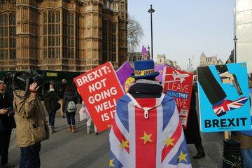 Jeden z wielu protestów ws. brexitu