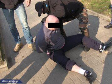 Jeden z zatrzymanych przestępców