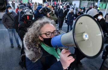 Jedna z liderek Strajku Kobiet Marta Lempart
