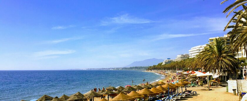 Jedna z plaż Costa del Sol