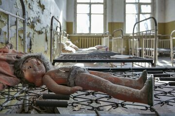 Jedno z opuszczonych miejsc w okolicach Czarnobyla
