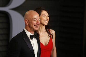 Jeff Bezos z żoną