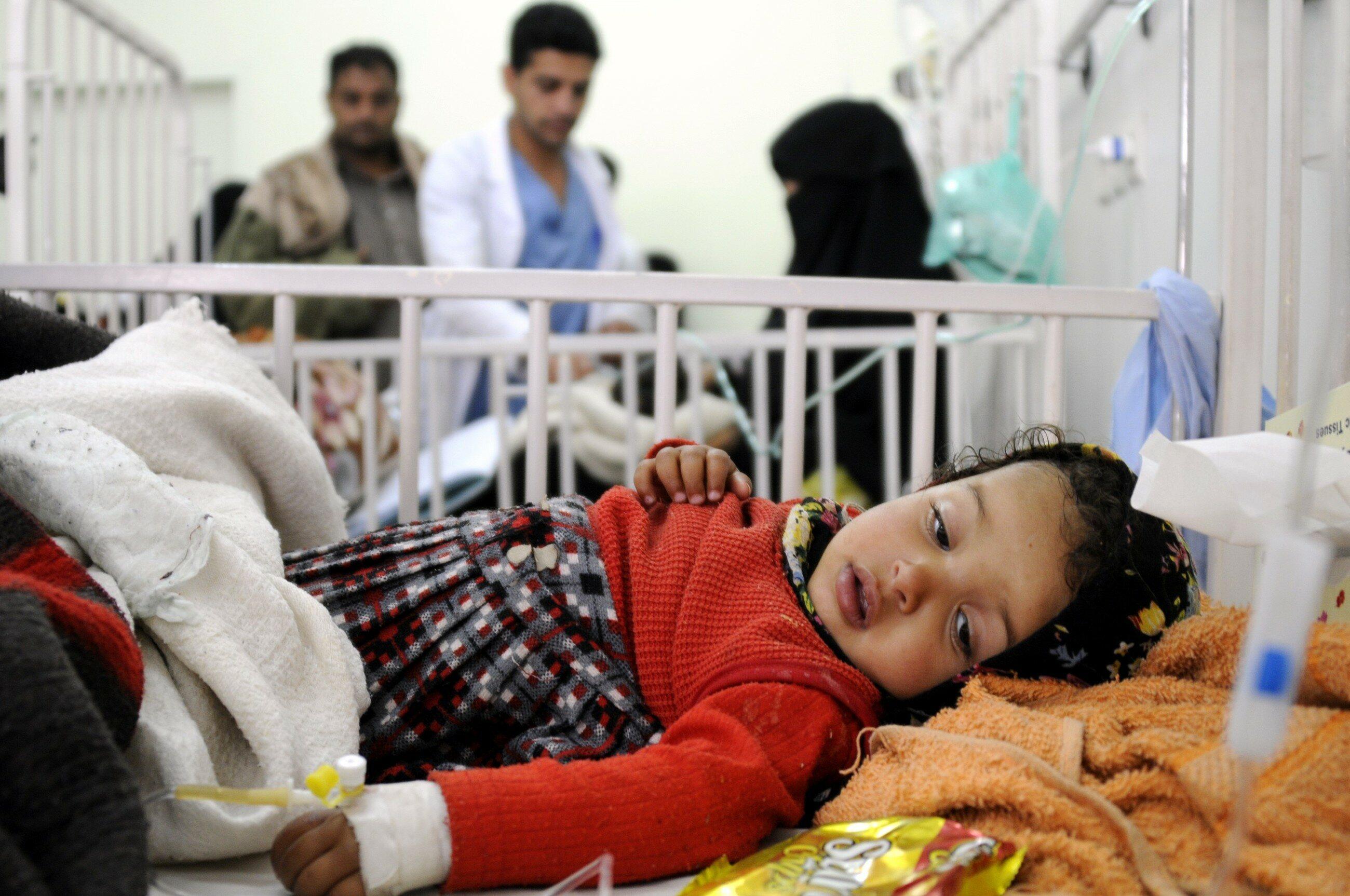 Jemeńskie dziecko w szpitalu