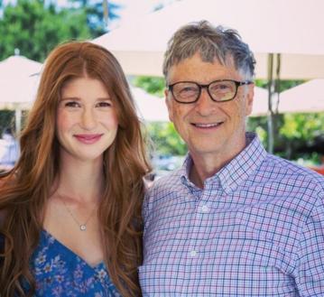 Jennifer Gates i jej ojciec Bill Gates