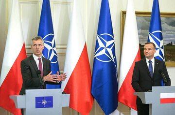 Jens Stoltenberg i Andrzej Duda