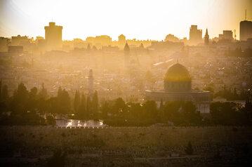 Jerozolima o wschodzie słońca