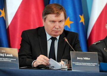 Jerzy Miller w czasie, gdy był szefem Komisji Badań Wypadków Lotniczych