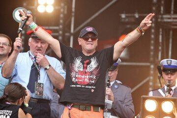Jerzy Owsiak podczas Przystanku Woodstock