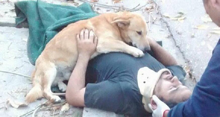 Jesus Hueche oraz jego pies Tony