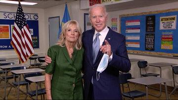 Jill Biden z mężem