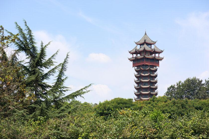 Jiutian tower, Chengdu, Chiny