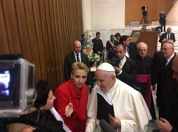 Joanna Scheuring-Wielgus spotkała się z papieżem Franciszkiem