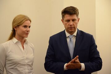 Joanna Schmidt i Ryszard Petru