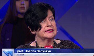 """Joanna Senyszyn, kadr z """"Wiadomości"""" TVP"""
