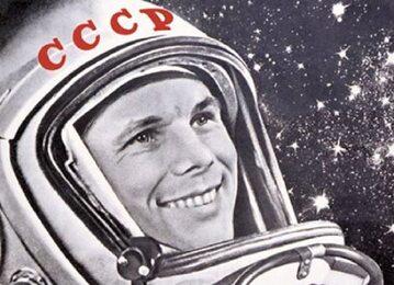 Jurij Gagarin na radzieckim plakacie propagandowym