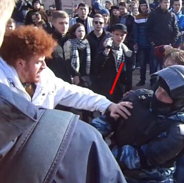 Jurij Kulij podczas protestu