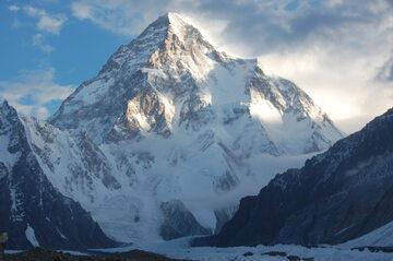 K2, widok od południa