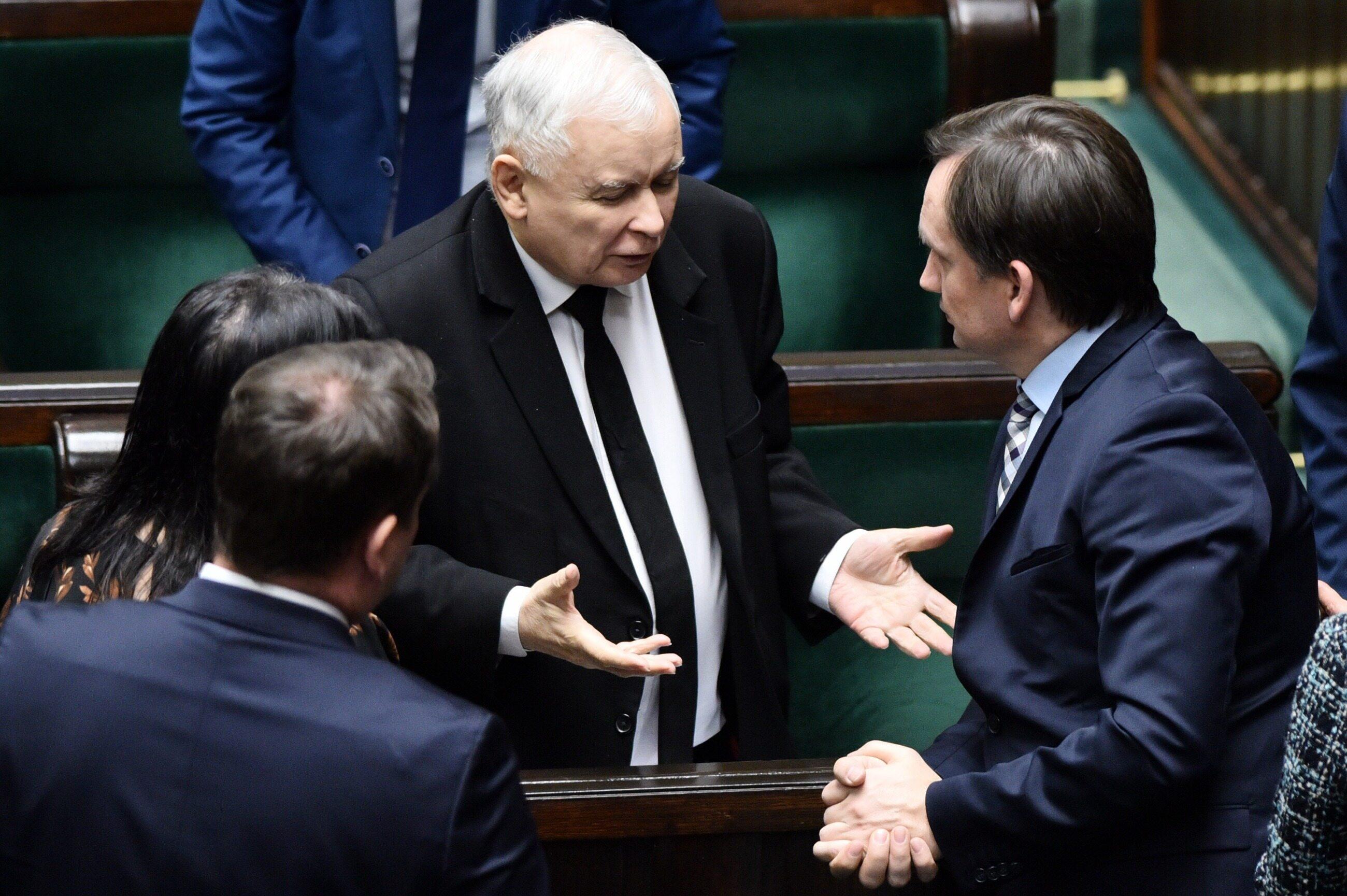 Kaczyński i Ziobro w Sejmie