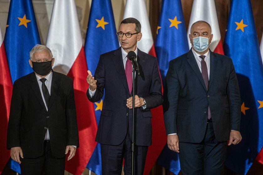 Kaczyński, Morawiecki, Sasin