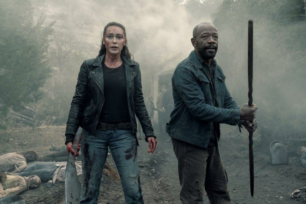 "Kadr z 5. sezonu serialu ""Fear the Walking Dead"""
