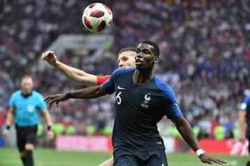 Kadr z meczu Francja - Chorwacja