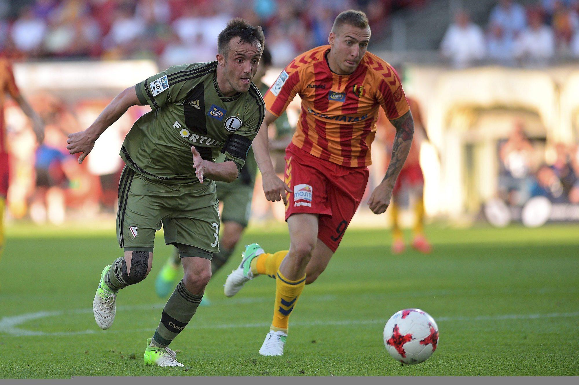 Kadr z meczu Korona Kielce - Legia Warszawa