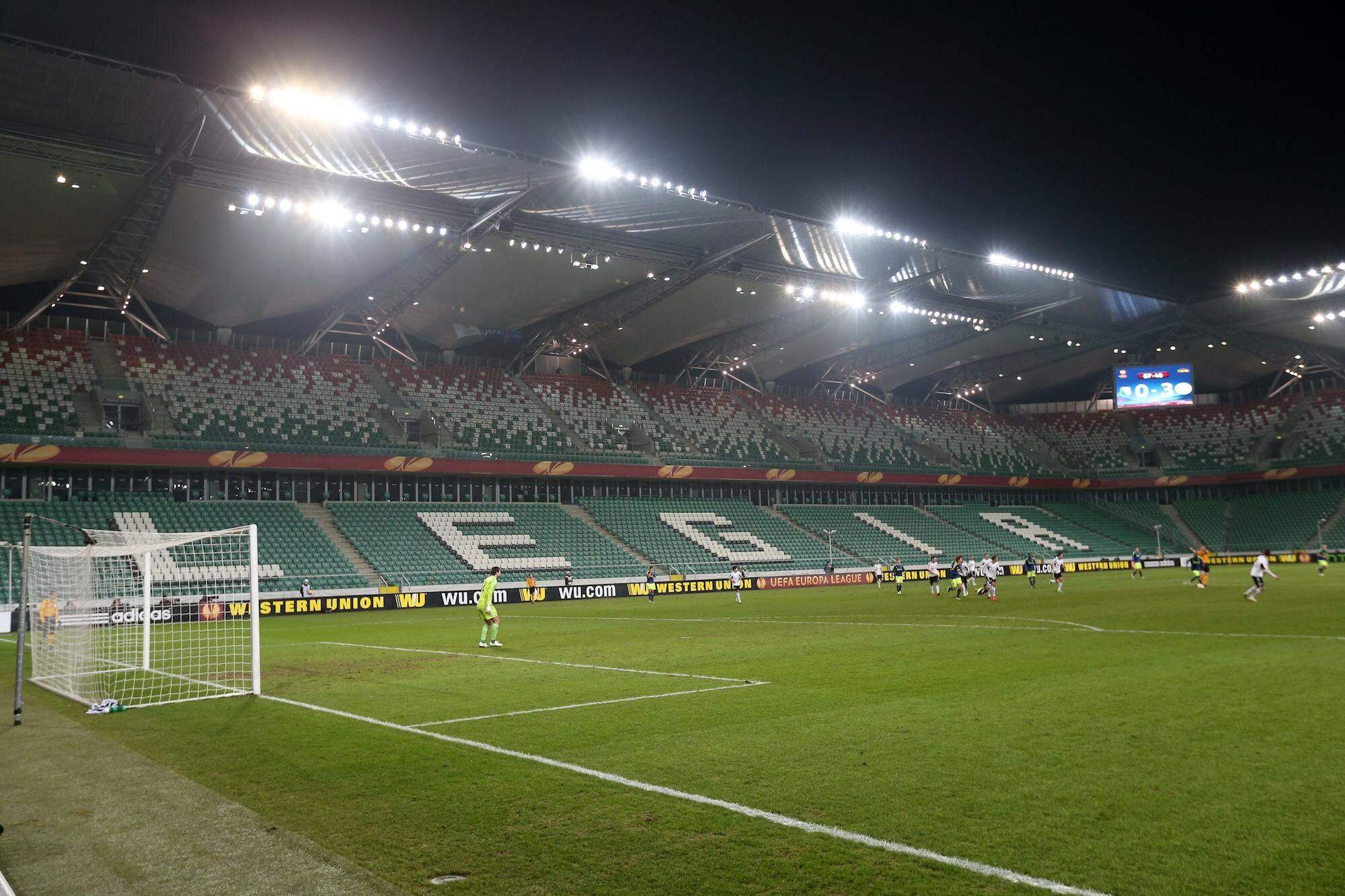 Kadr z meczu Legia - Ajax w 2015 roku