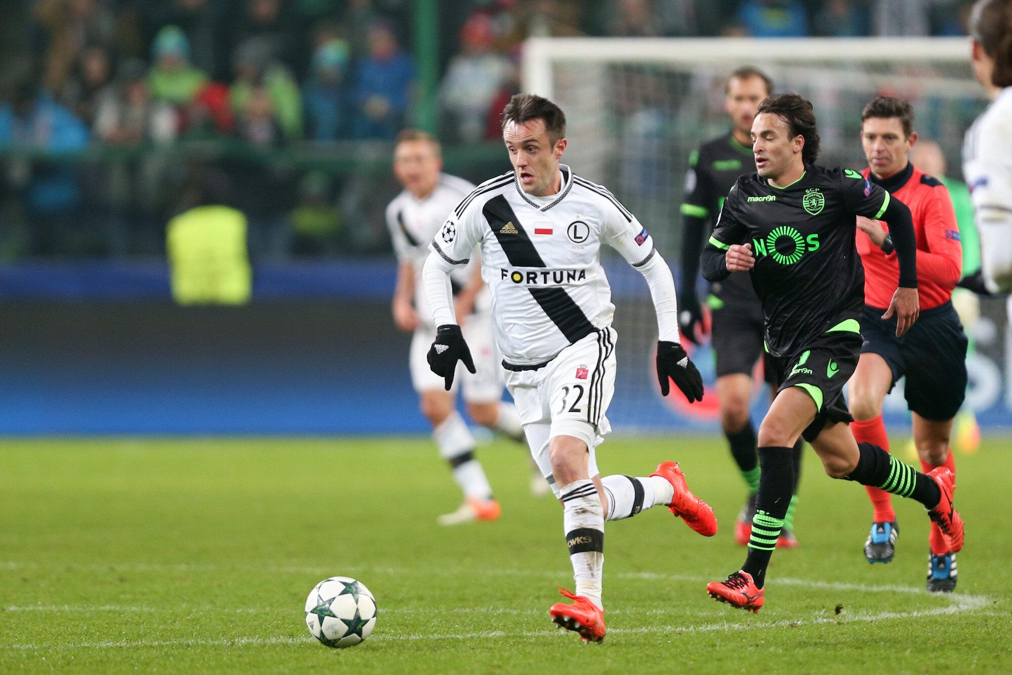 Kadr z meczu Legia - Sporting