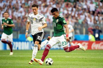 Kadr z meczu Niemcy - Meksyk