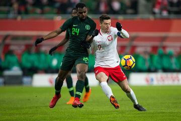 Kadr z meczu Polska - Nigeria