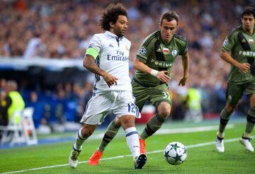 Kadr z meczu Real - Legia
