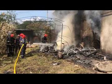 Kadr z nagrania akcji strażaków