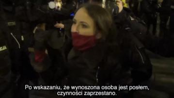 Kadr z nagrania policji