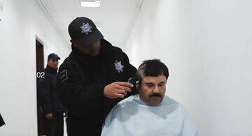 """Kadr z nagrania, przedstawiający najprawdopodobniej słynnego """"El Chapo"""""""
