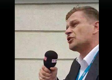 Kadr z nagrania udostępnionego przez Pawła Adamowicza
