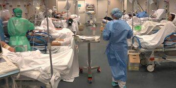 Kadr z nagrania we włoskim szpitalu
