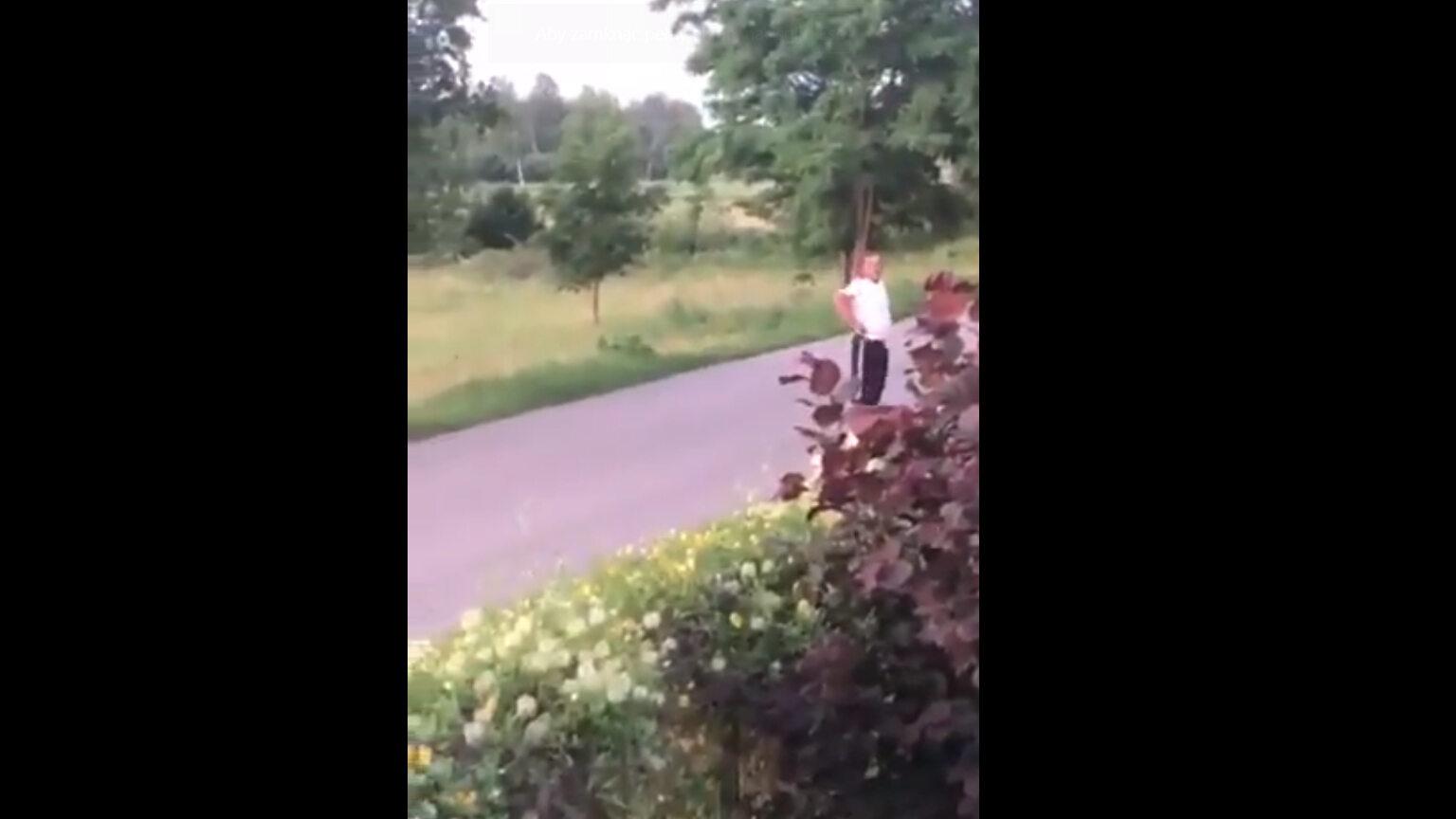 Kadr z nagrania zamieszczonego przez Marcina Gołaszewskiego