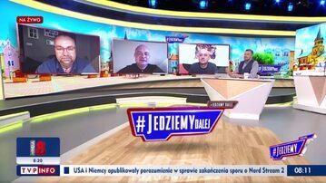"""Kadr z programu """"#Jedziemy"""" w TVP Info"""