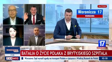 """Kadr z programu """"Woronicza 17"""" na antenie TVP Info"""